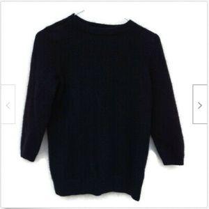 Talbots classic black crew neck cashmere sweater S